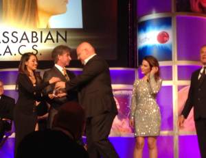 """Accepting my award for """"Best Facial Surgery!"""""""