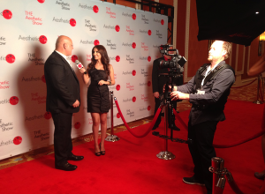 Another shot of me being interviewed by the beautiful Stuart Brazell on the red carpet.