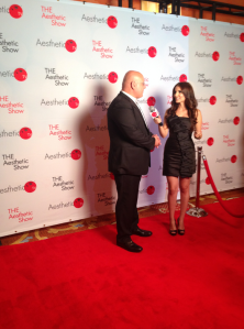 On the red carpet for THE Aesthetic Show Awards 2014.